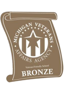 Michigan Veterans Affairs - GOLD Veteran-Friendly School logo